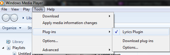 MP3's Lyrics on Windows 7 Windows Media Player 12 – ardityawahyu